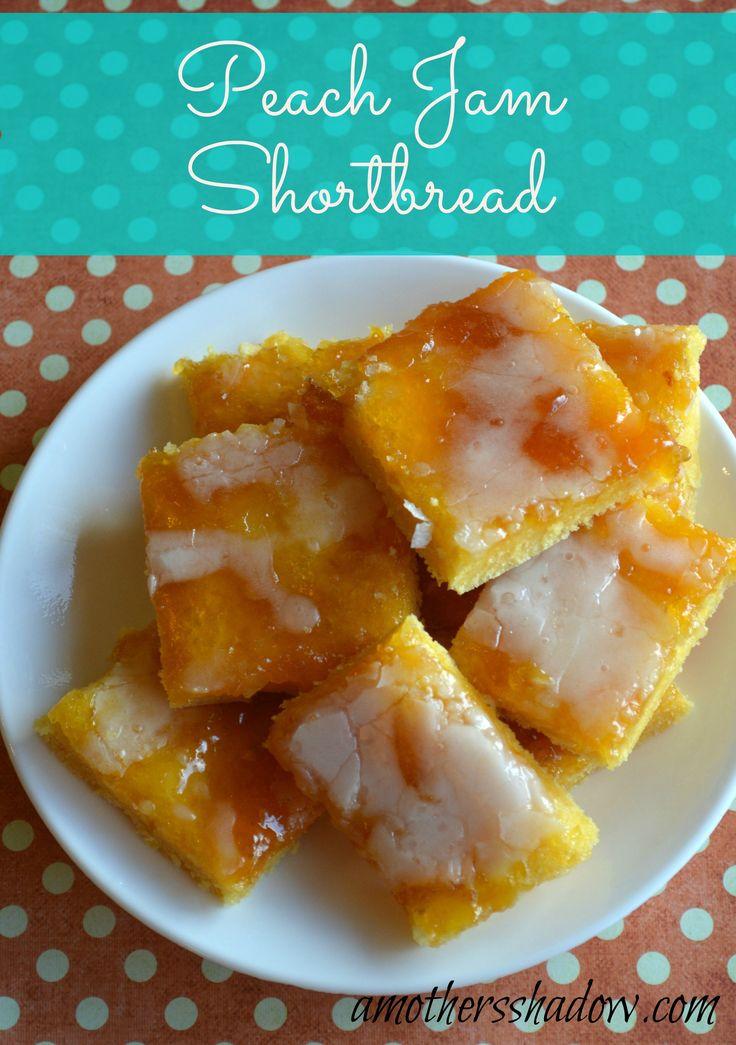 Peach Jam Shortbread on MyRecipeMagic.com #peach #jam #shortbread