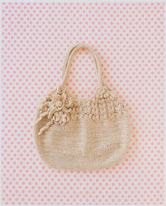 Japanese Crochet Bag : Japanese Crochet Handbag Bag Tote PDF Pattern by DotsStripes, $2.50