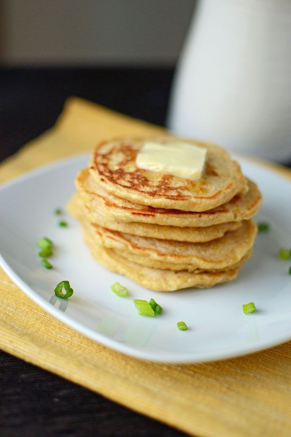 Scallion Cheddar Cornmeal Griddle Cakes I The Well Floured Kitchen