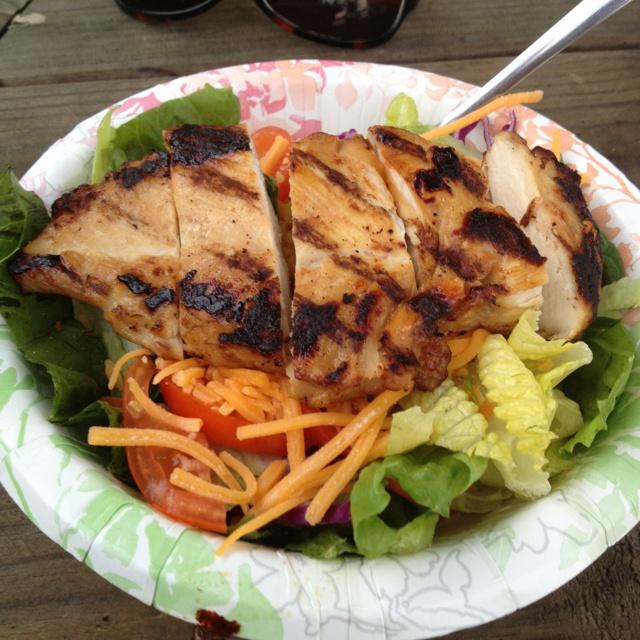 Grilled Chicken Salad Coosa Island Bar and Grill Cropwell Alabama