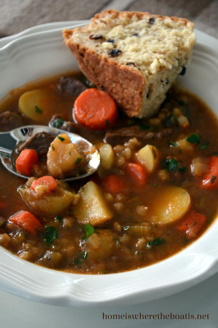 Irish Stew with Soda Bread | Holidays | Pinterest