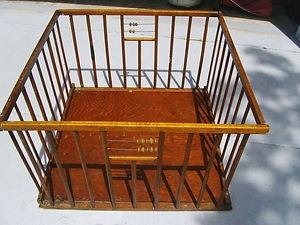 Vintage portable playpen
