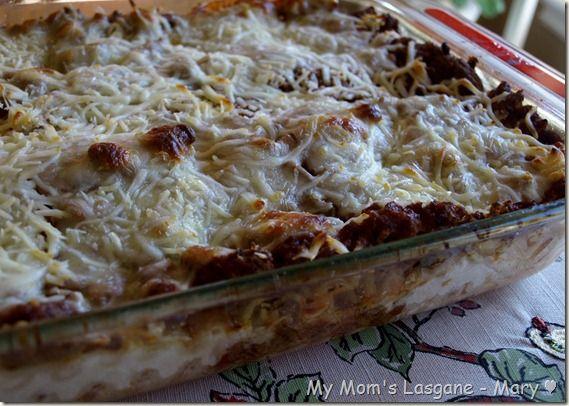 My Mom's 'Sunday Night' Lasagne Recipe | Foods | Pinterest