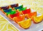Rainbow Gelatin Orange Wedges   St Patricks Day   Pinterest