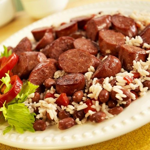 Red Beans & Rice with Andouille Sausage http://bigpartiessmallspaces ...