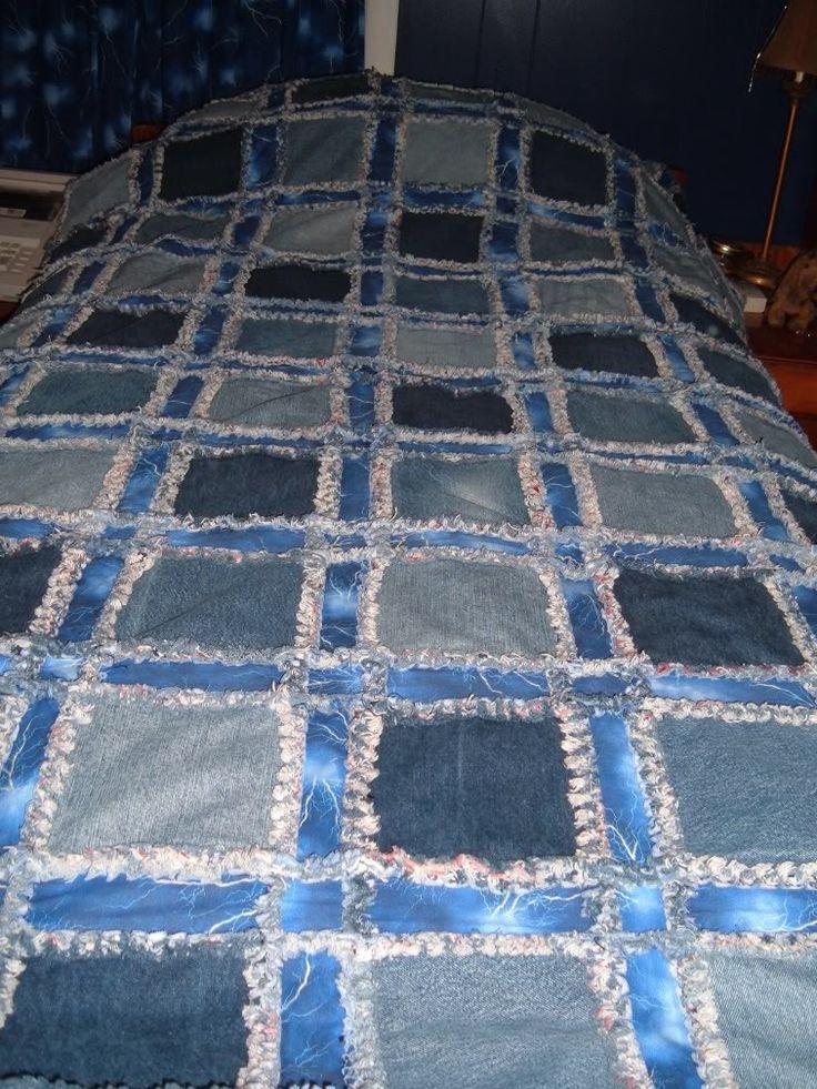 Denim Quilt Ideas All About Jeans Quilt Art Pinterest