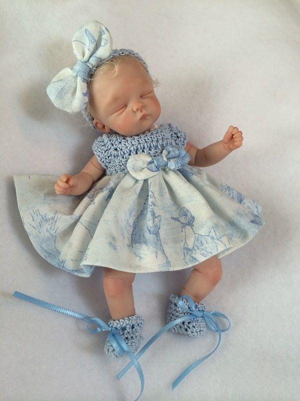 Ooak hand sculpted mini polymer clay baby girl miniature ebay