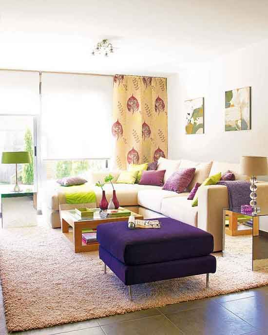 Purple cream living room passion for purple pinterest for Purple and cream living room ideas