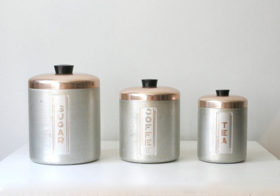 ... my grandmothers canisters in aluminum. Cant seem to part with them