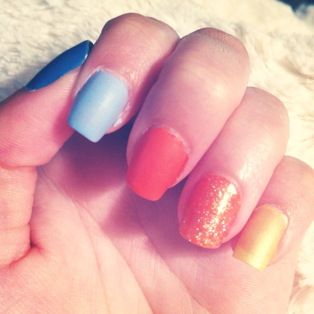 OKC Thunder nails by Emily Hornsby | style | Pinterest