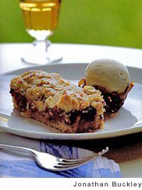 Raspberry-Cinnamon Streusel Tart Recipe | Leite's Culinaria