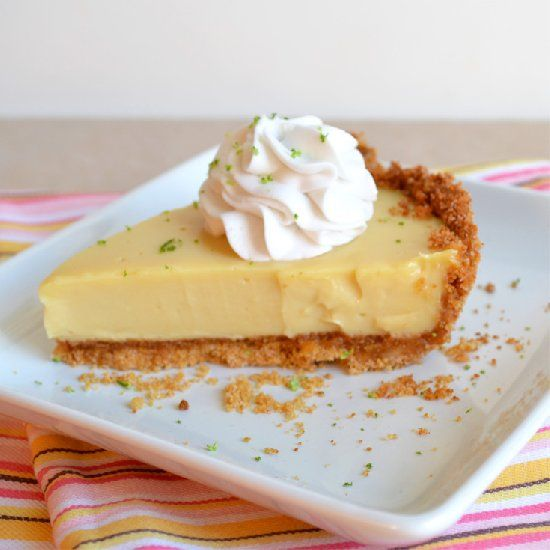 exactly key lime pie, simple graham cracker crust, and whipped coconut ...