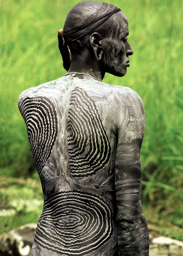 pin by monika ettlin on africa adorned painted body