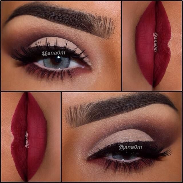 Lovely look from ana0m using Eyeshadow's from morphebrushes 35N palette & toofaced Chocolate Bar palette, Lips Makeup4you #2. source