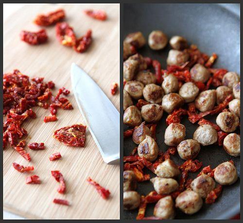 Scrambled Egg Recipe with Turkey Sausage, Sun-Dried Tomatoes & Basil ...