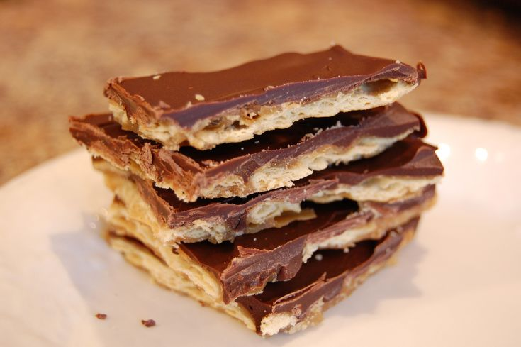 Cracker Toffee (My Grandmother used to make this. It's so good.)