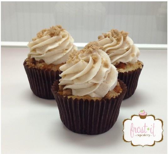 PEACH COBBLER CUPCAKE | Cupcakes | Pinterest