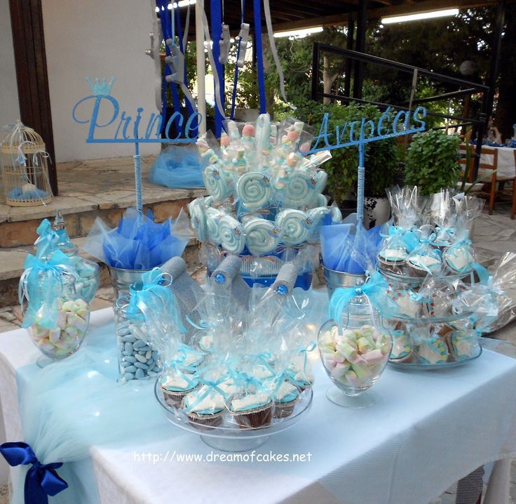 Cute baptism table decorations photograph christening deco - Baptism decorations ideas for boy ...