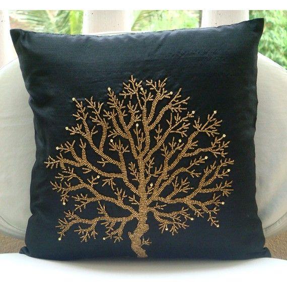 Celebrated Tree Euro Sham Covers 26x26 Inches Silk