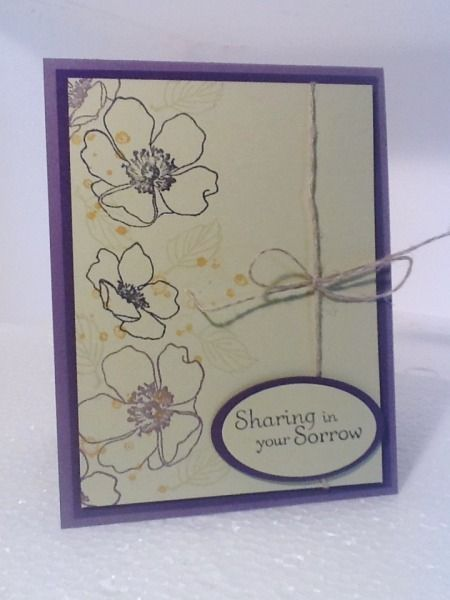 Stampin up sympathy card by mrsscrapper cards and paper crafts at