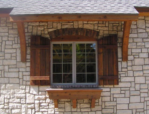 Outside wood shutters shutters pinterest for Exterior window design ideas