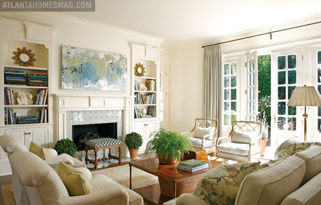 Love the colors symmetry very calming living rooms for Calming living room ideas