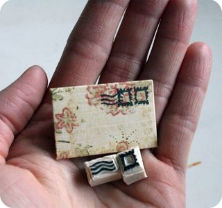 Postage cancellation stamps for tiny packages.