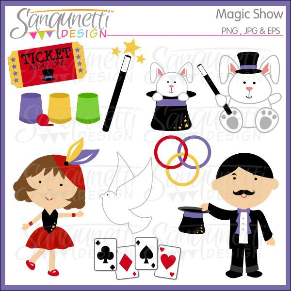 Displaying (19) Gallery Images For Magic Show Clip Art...