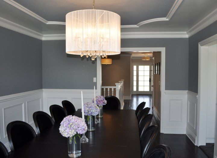 Pin by katrina taylor on new house pinterest for Dining room molding ideas