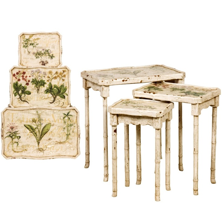 Painted Bamboo Nesting Tables FURNITURE IDEAS Pinterest