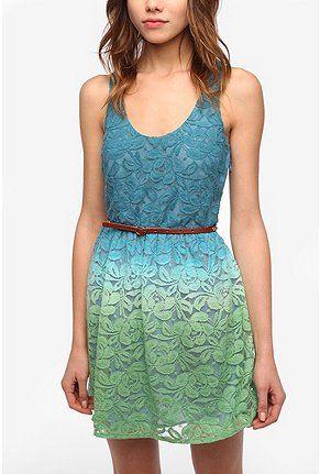 Ombre Lace Dress. love