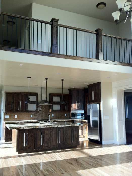 Open concept for House plans with stairs in kitchen