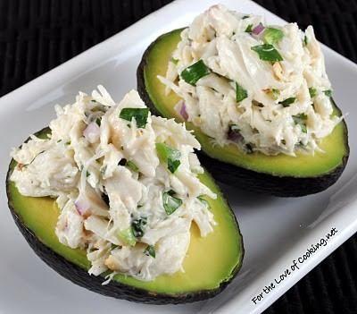 crab salad in avocado
