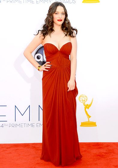 2012 Emmys: What the Stars Wore!: Kat Dennings