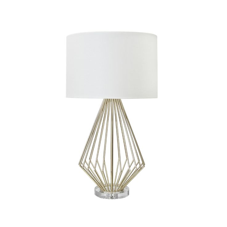silver leaf table lamp with acrylic base in stock lighting pinter. Black Bedroom Furniture Sets. Home Design Ideas