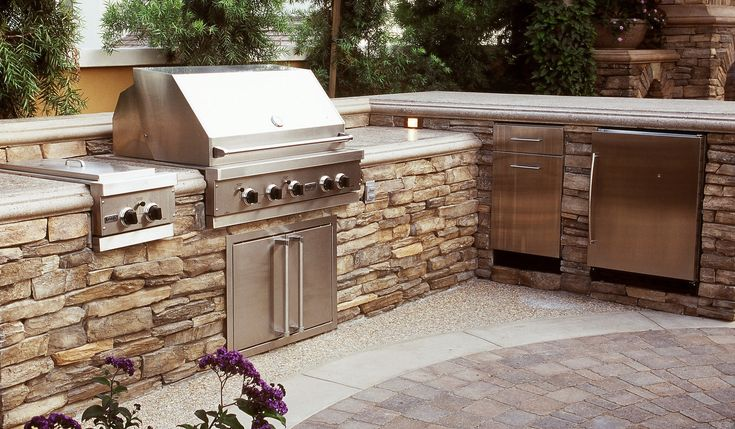 Coastal Stone Outdoor Kitchen Dining Alfresco Pinterest