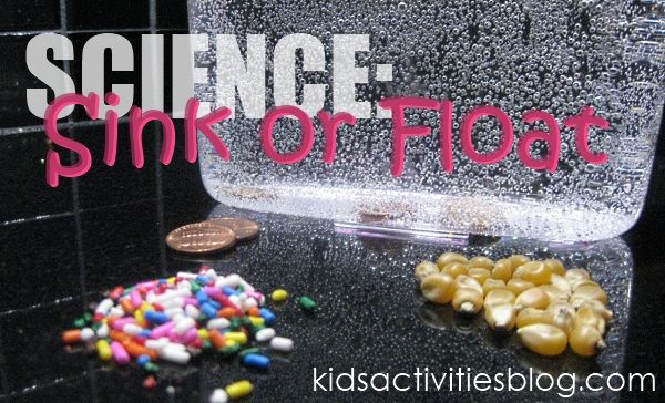 A simple science experiment that my kids loved doing - find out what sinks, floats (or even dances) in seltzer water