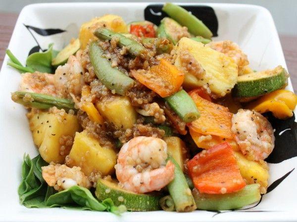 Week 17 - Pineapple Quinoa Shrimp Stir Fry. Very good! Needs a bit ...