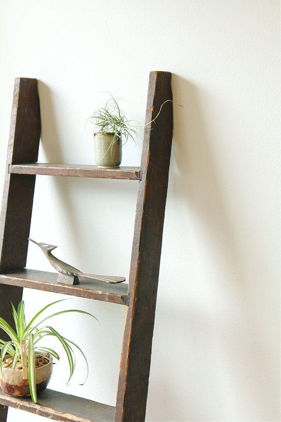 Reserved vintage industrial bunk ladder rustic decor for Decor ladder