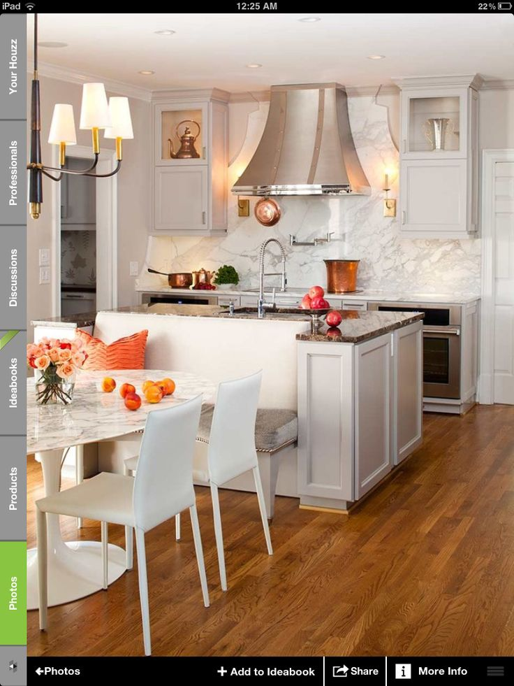 Kitchen Island Dining Nook Combo 1 Kitchen Pinterest