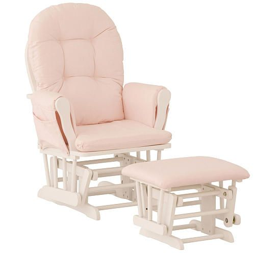 Pink And White Glider And Ottoman Baby Emma 39 S Nursery Ideas Pinte