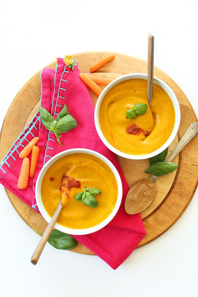 Carrot Soup with Peanut Butter and Chili Sauce | Thai-inspired, so ...