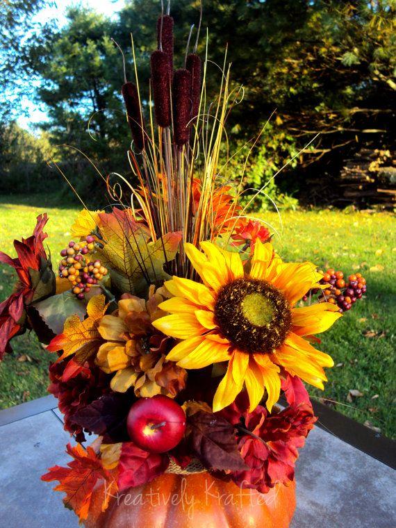 Autumn Floral Arrangement Table Centerpiece Fall