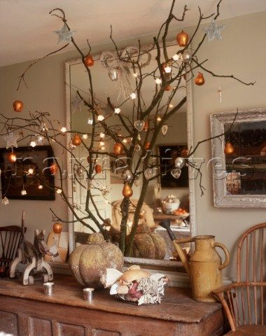Pin by ioanna stanitsa on christmas decorations pinterest for Tree branch decorations in the home