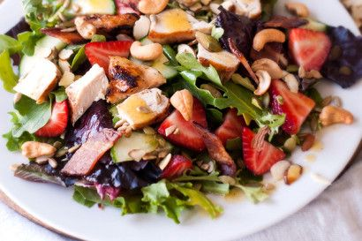 Summer Salad with Grilled Chicken, Bacon & Chipotle Lime Vinaigrette ...