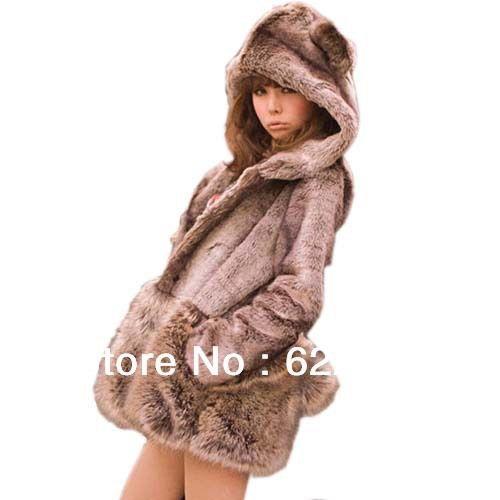 Coat Winter Long Sleeve Mink Jacket For Women 1Pcs 1863 $49.88 - 50.88