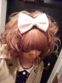 big bow + curls