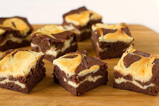 Cream Cheese Brownies by Brown Eyed Baker