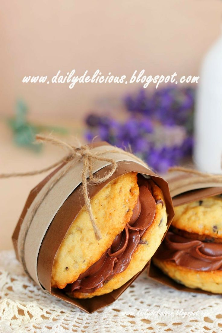 Chocolate chips whoopie pie with chocolate ganache filling Have you ...