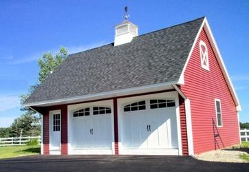 Carriage House Modular Garage Outdoors Home Exteriors